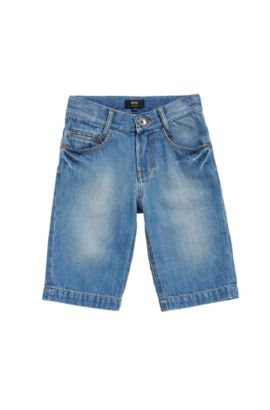 Kids' jeans shorts in cotton: 'J24490', Patterned