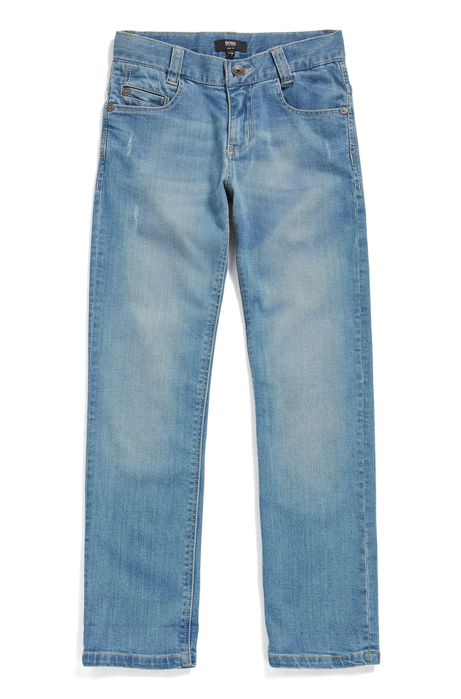 Slim-Fit Kids-Jeans aus Stretch-Denim