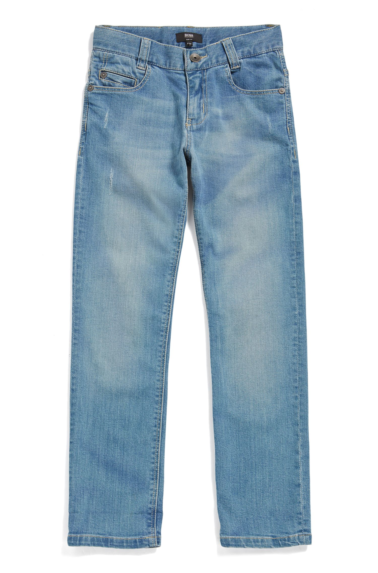 Slim-fit kinderjeans van stretchdenim