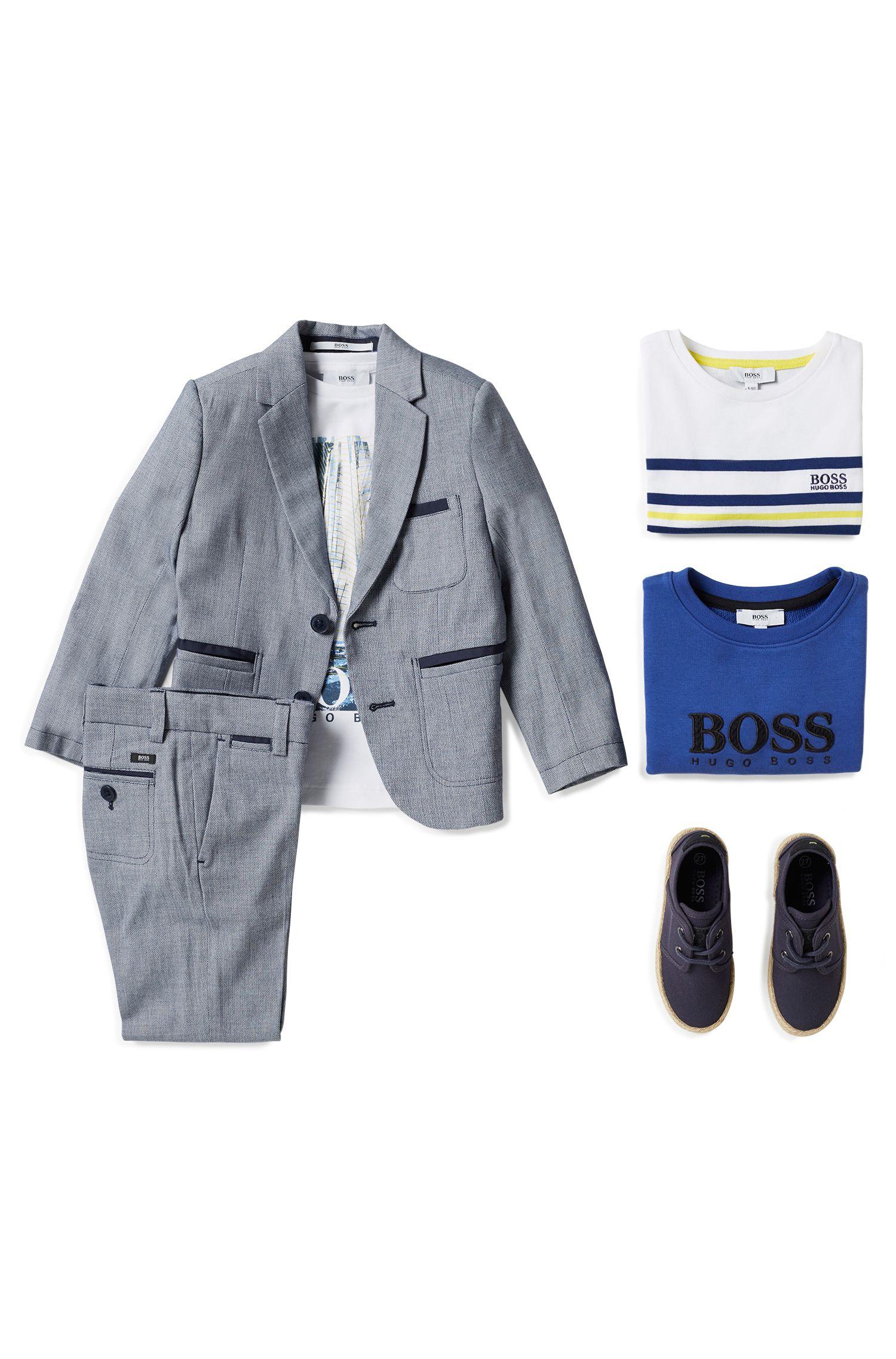 Kids-Anzughose aus gewebter Baumwolle , Gemustert