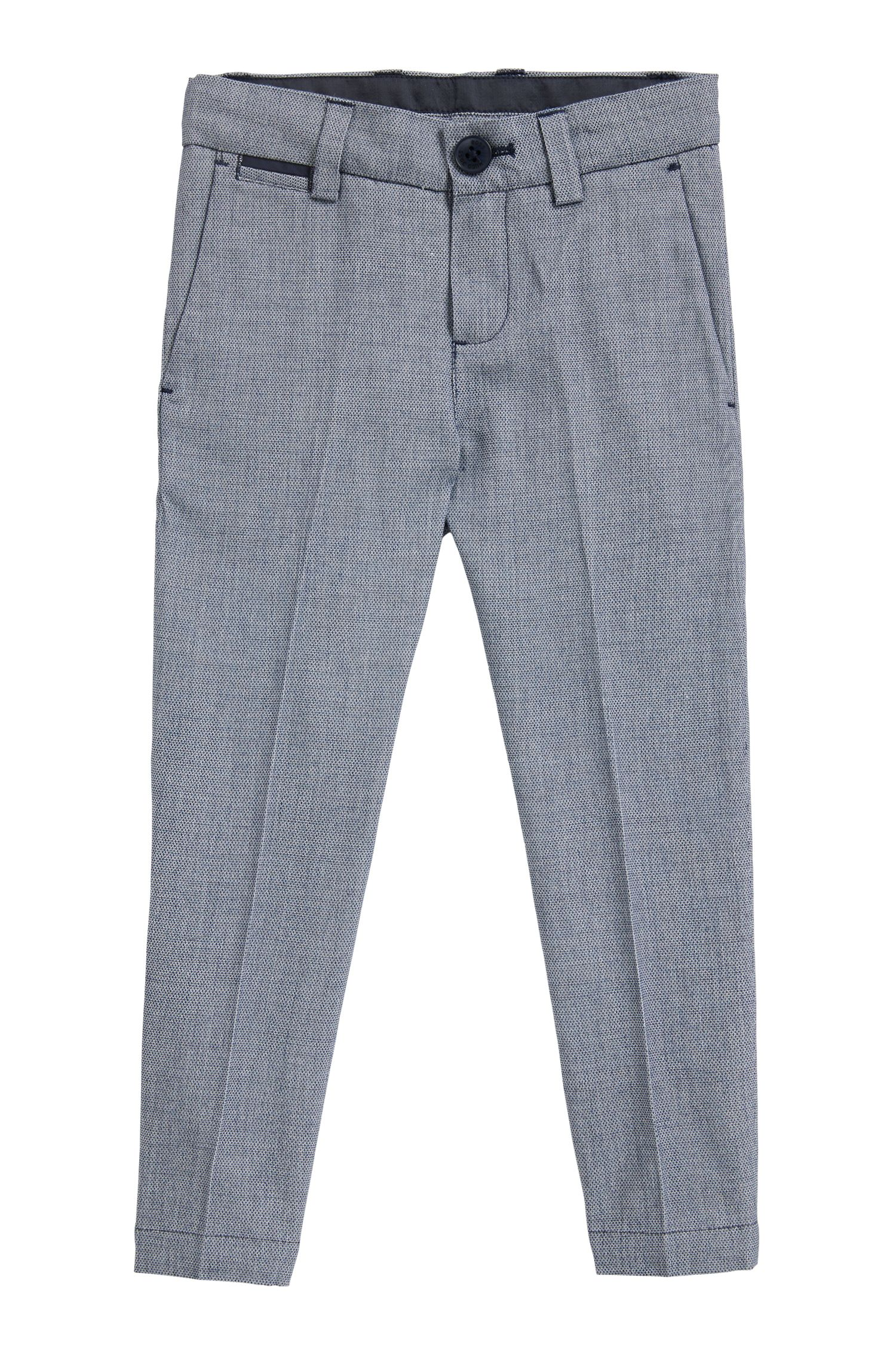 Kids' suit trousers in woven cotton