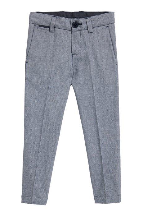 Pantaloni da bambino in cotone lavorato , A disegni