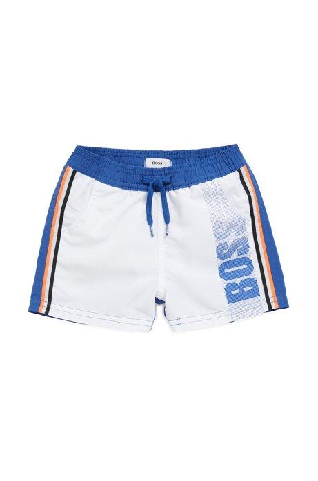 f5ba2f8f Kids' swim shorts in quick-dry technical fabric , Blue