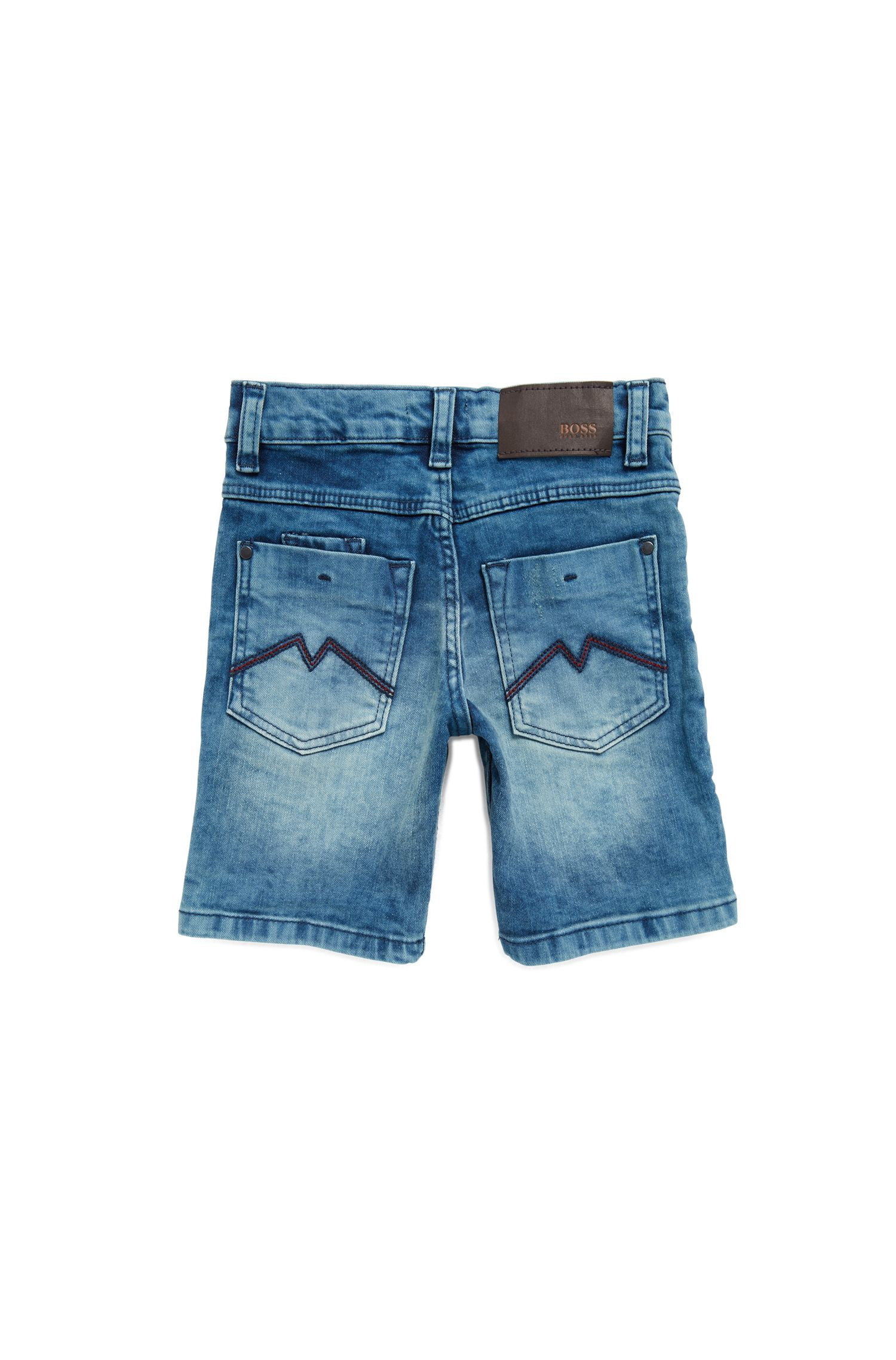 Kids' Bermuda shorts in stretch denim
