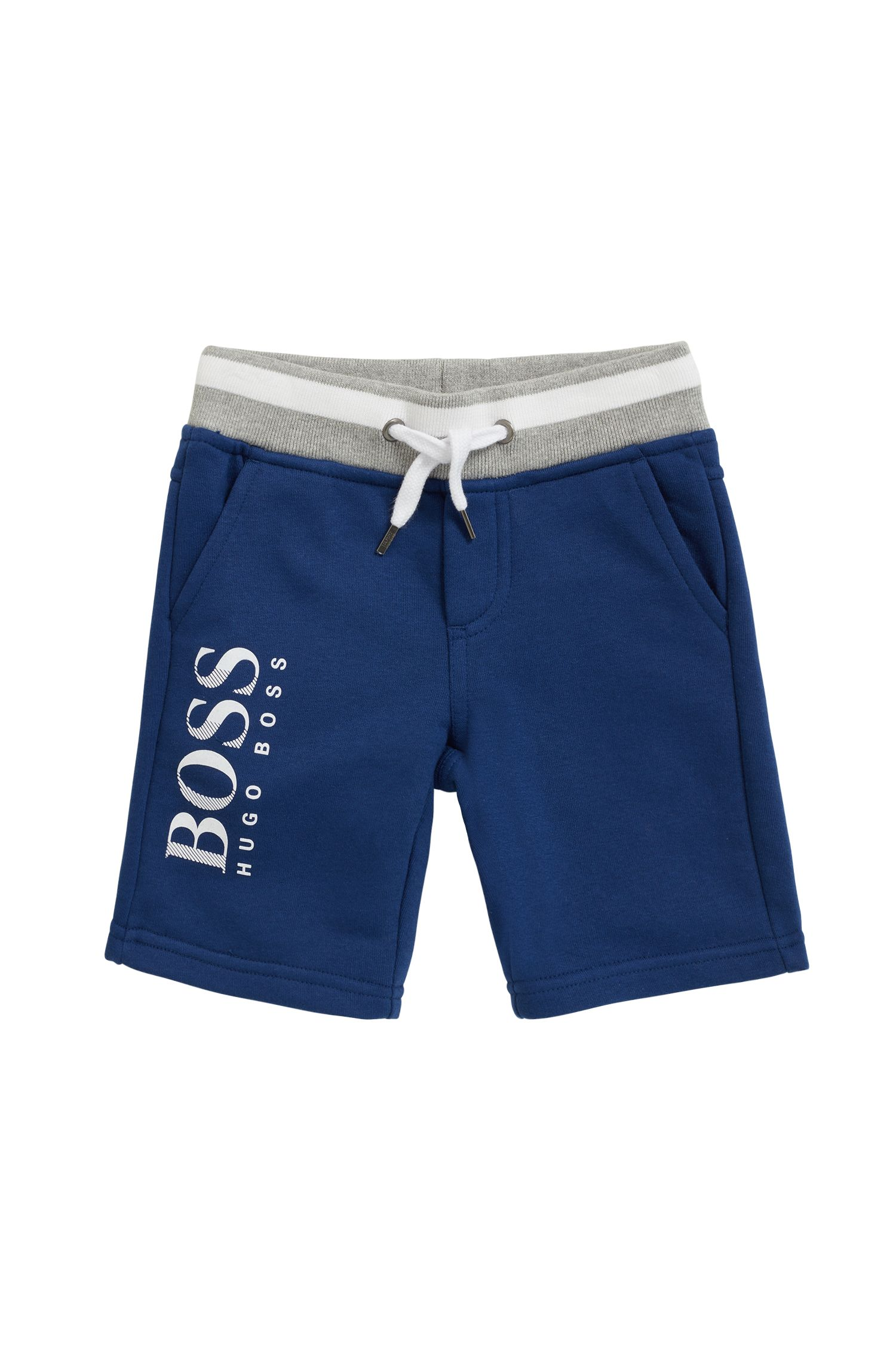 Kids' Bermuda shorts in French terry with logo print
