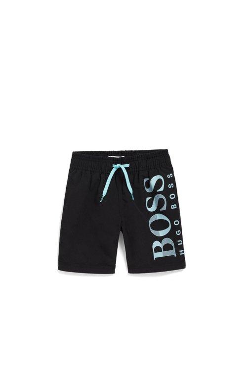 Hugo Boss - Short de bain pour enfant en tissu au séchage rapide, avec logo - 1