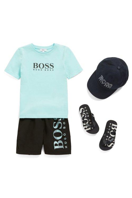 Hugo Boss - Short de bain pour enfant en tissu au séchage rapide, avec logo - 2