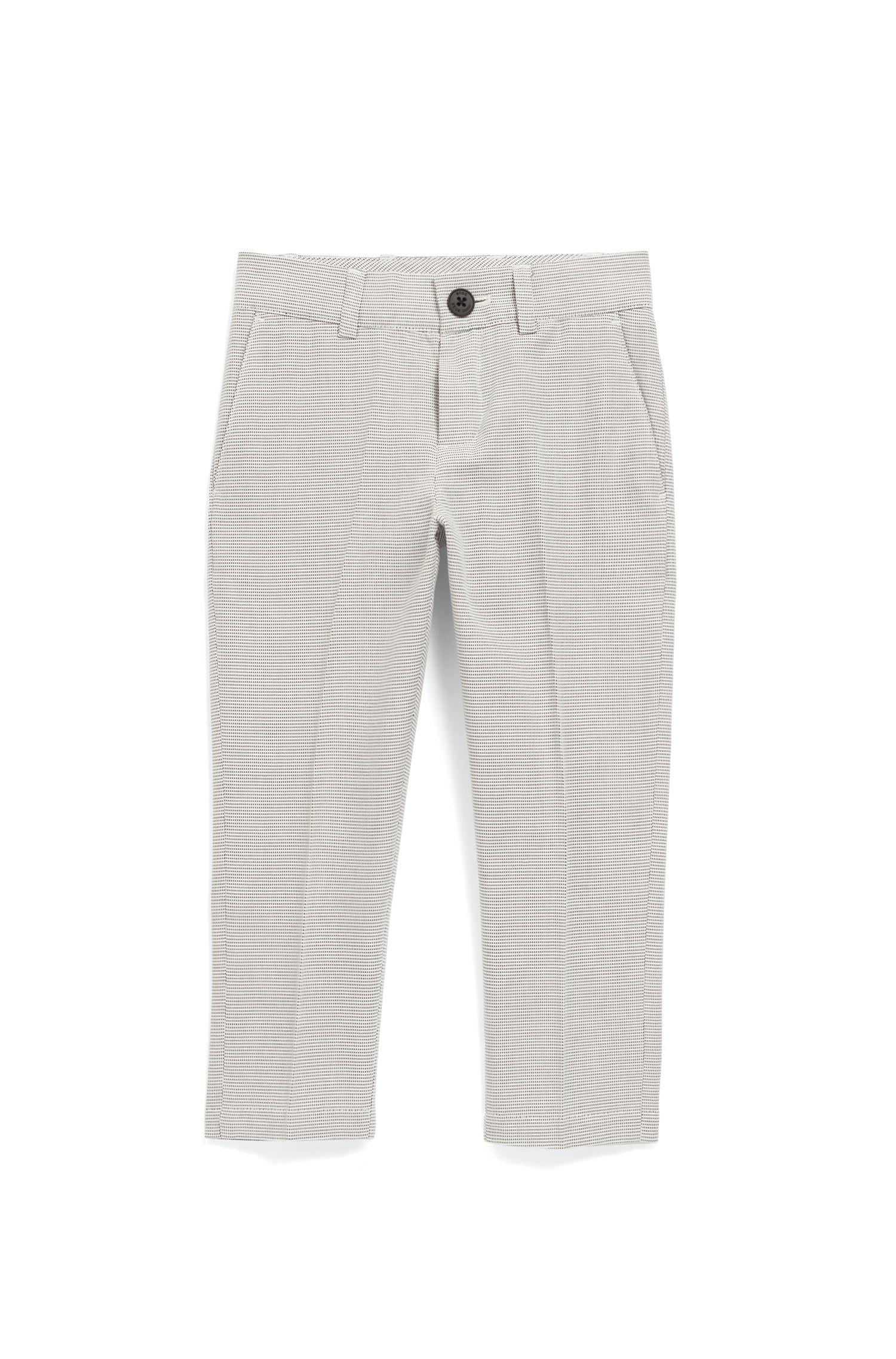 Pantalon pour enfant Slim Fit en coton façonné bicolore, Fantaisie