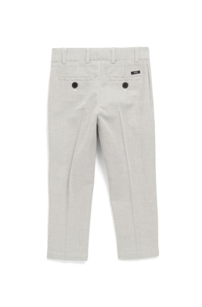 Pantalon pour enfant Slim Fit en coton façonné bicolore