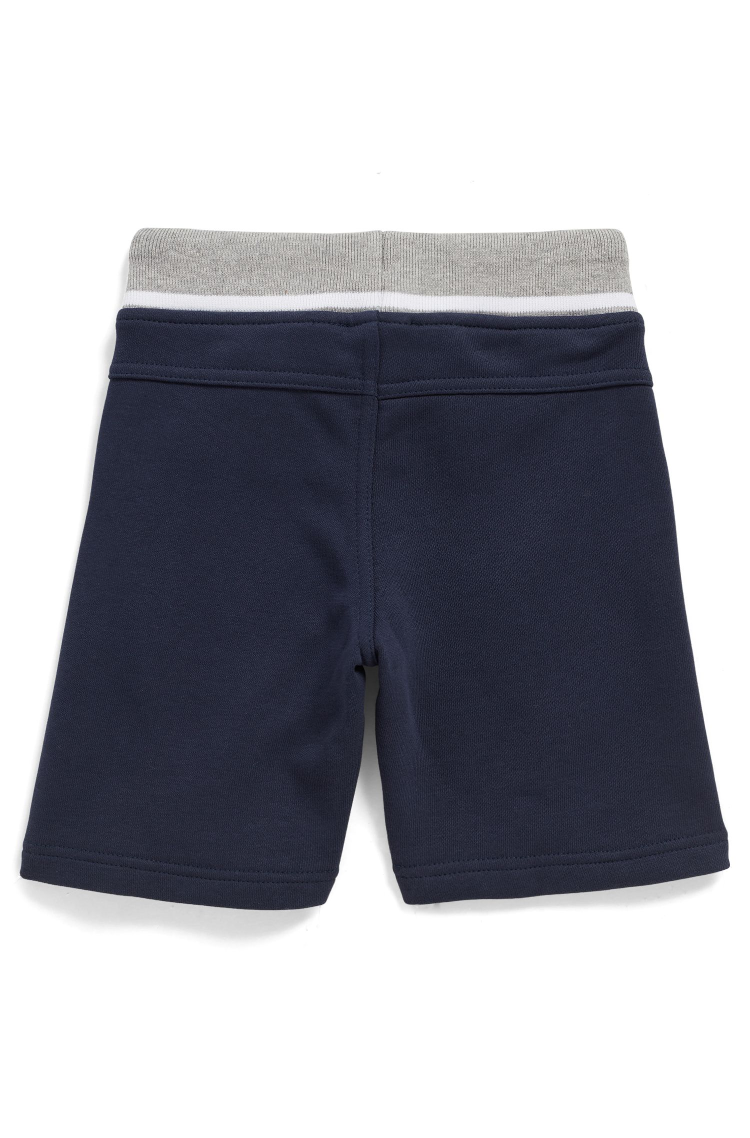 Kids' loungewear shorts in knee-length French terry, Dark Blue