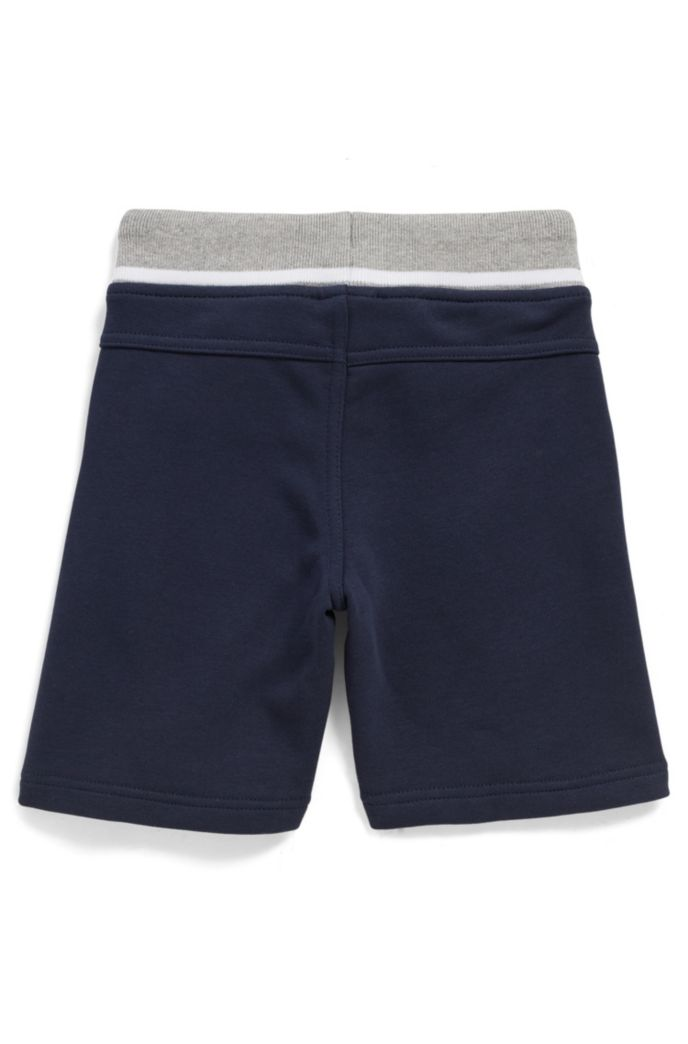 Kids' loungewear shorts in knee-length French terry