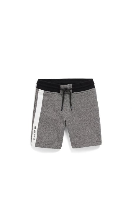 Kids' loungewear shorts in heathered French terry, Patterned