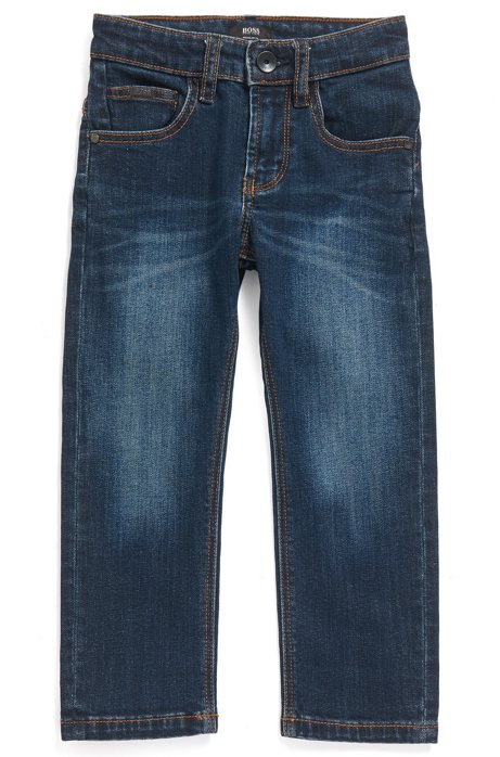 Regular-Fit Kids-Jeans aus Stretch-Denim, Dunkelblau