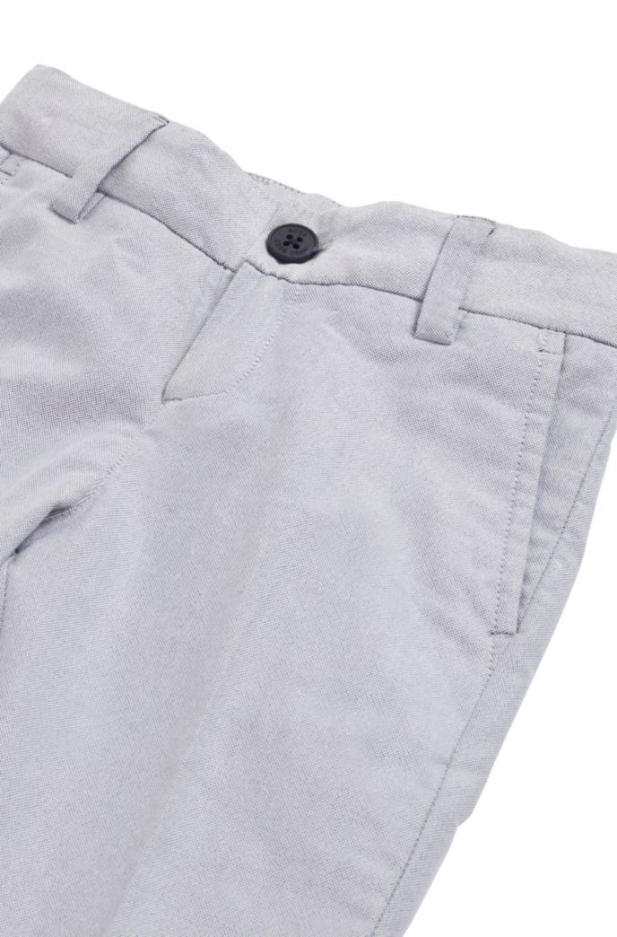 Pantalon Slim Fit pour enfant en chambray de coton stretch