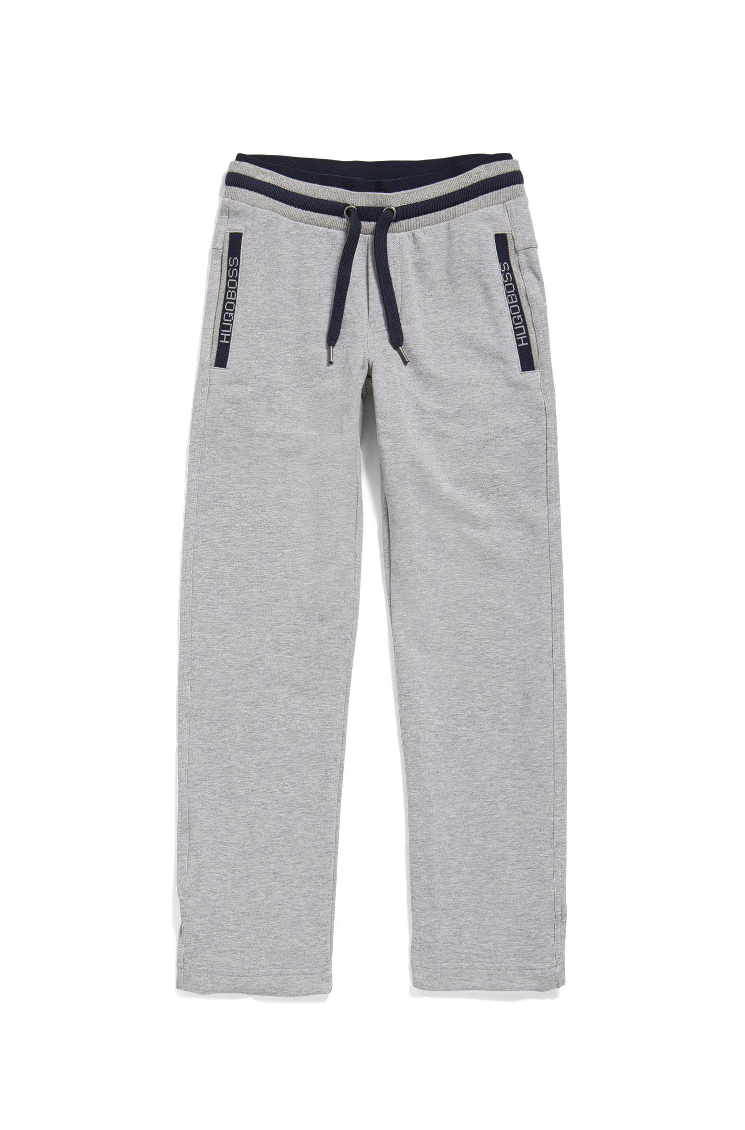 Pantaloni da jogging da bambino con cordoncino in cotone elasticizzato