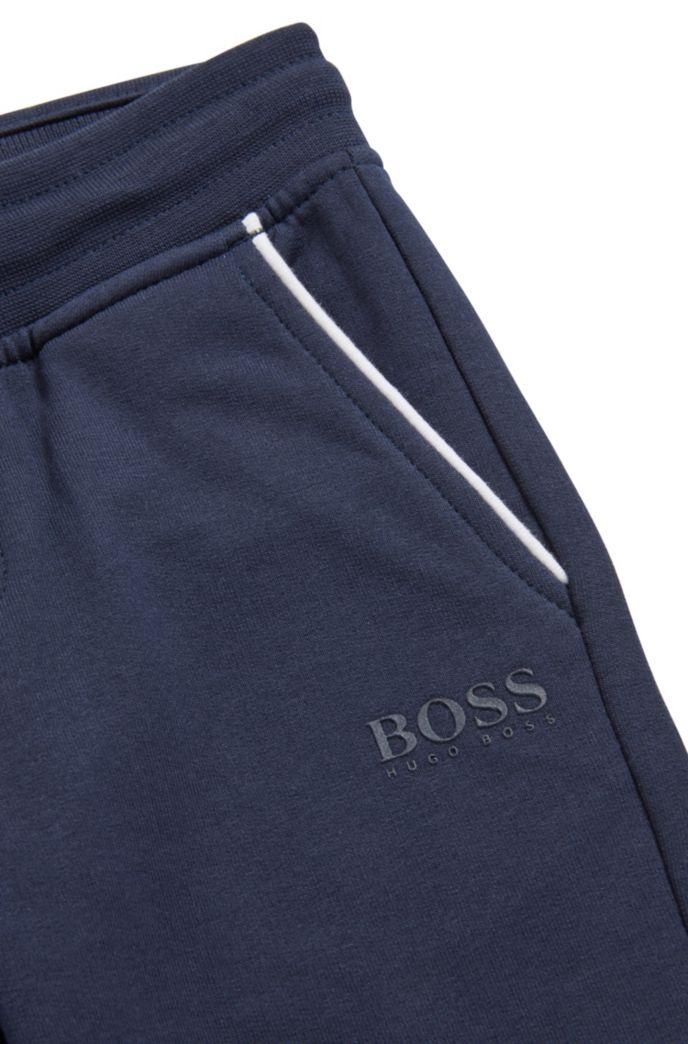 Pantaloni da bambino per il tempo libero in pile di cotone elasticizzato