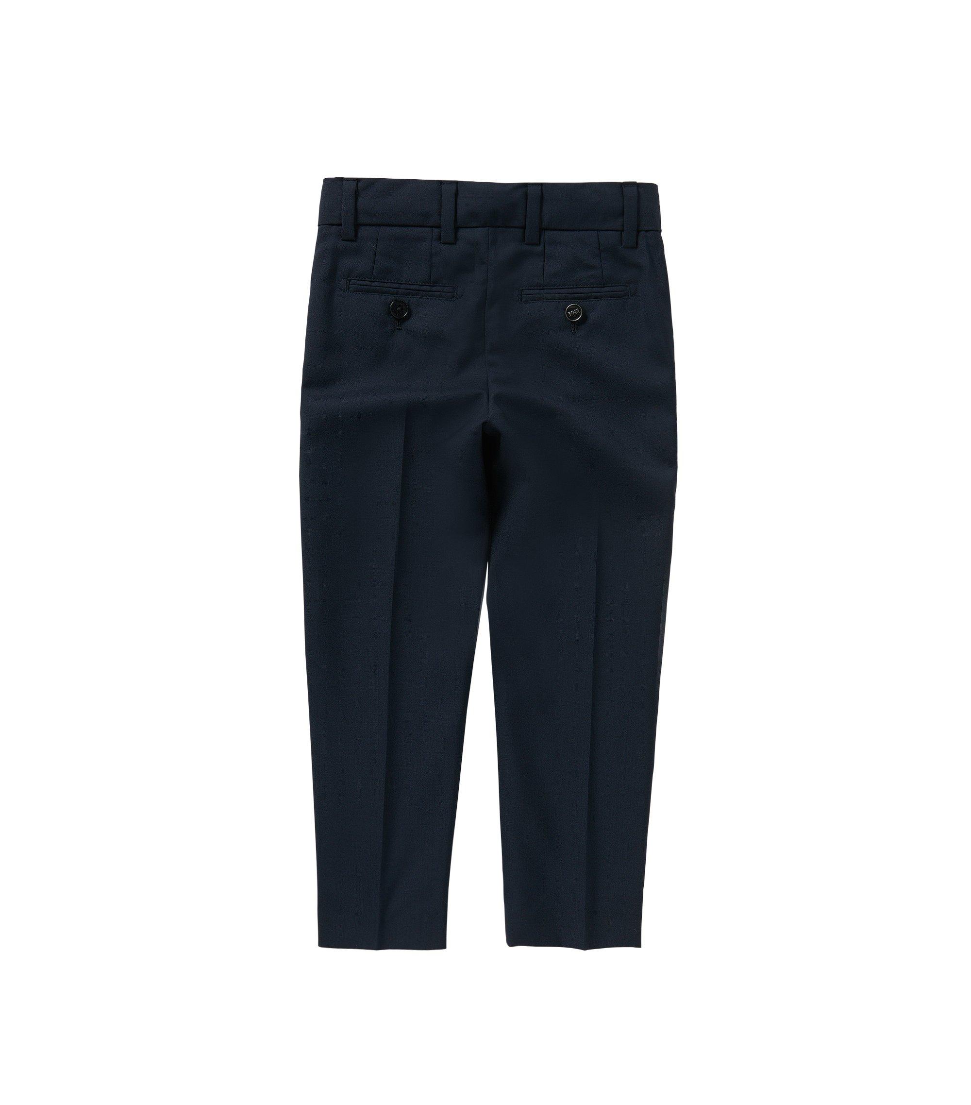 Regular-Fit Kids-Hose mit Bügelfalten: 'J24U07', Dunkelblau