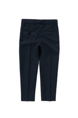 Pantalon pour enfant Regular Fit doté de plis de repassage: «J24U07», Bleu foncé
