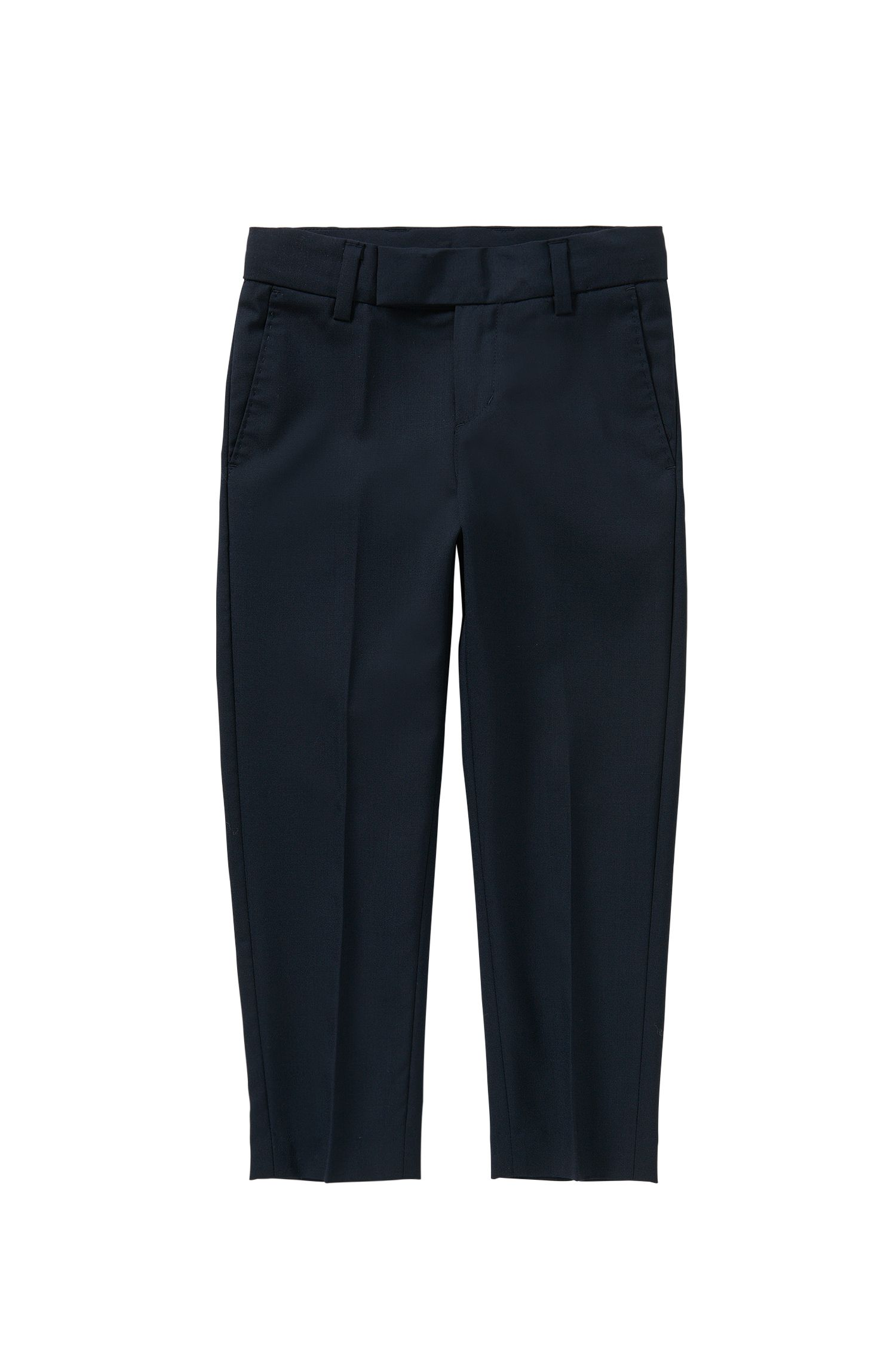 Regular-fit kids' trousers with pressed creases: 'J24U07'