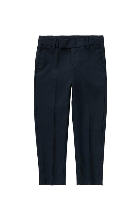 Regular-fit kinderbroek met scherpe vouwen: 'J24U07', Donkerblauw