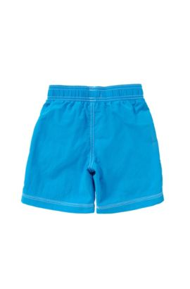 Kids' swim shorts with elastic waistband: 'J24U74', Turquoise