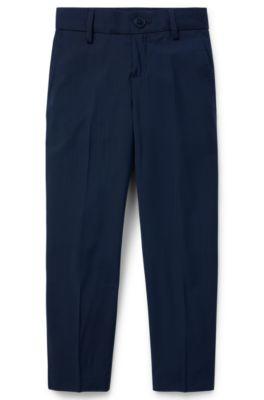 Pantalon Regular Fit pour enfant en pure laine, Bleu foncé