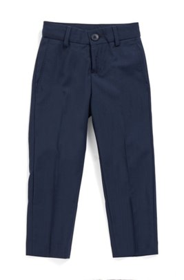 Kids' regular-fit trousers in pure wool, Dark Blue