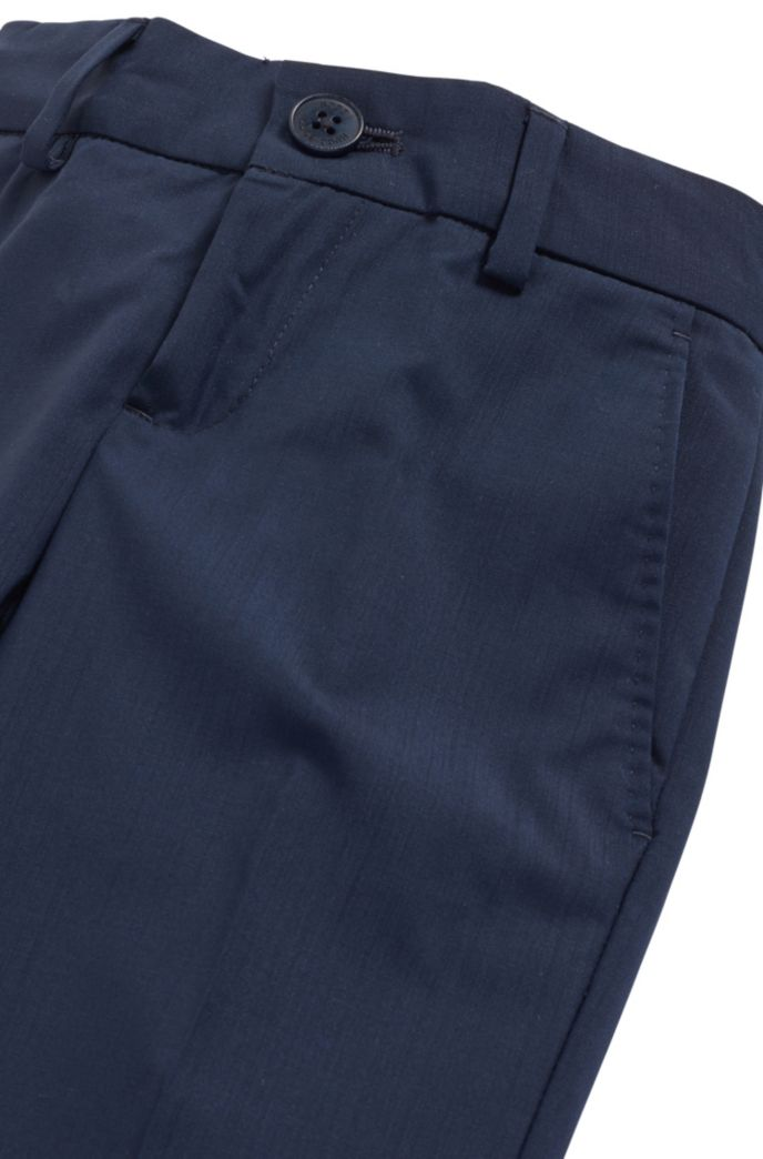 Kids' regular-fit trousers in pure wool