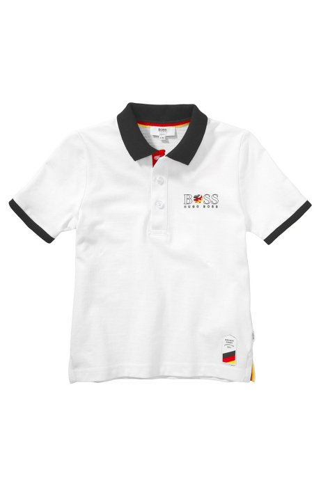 Kids' piqué polo shirt 'J25671', Patterned