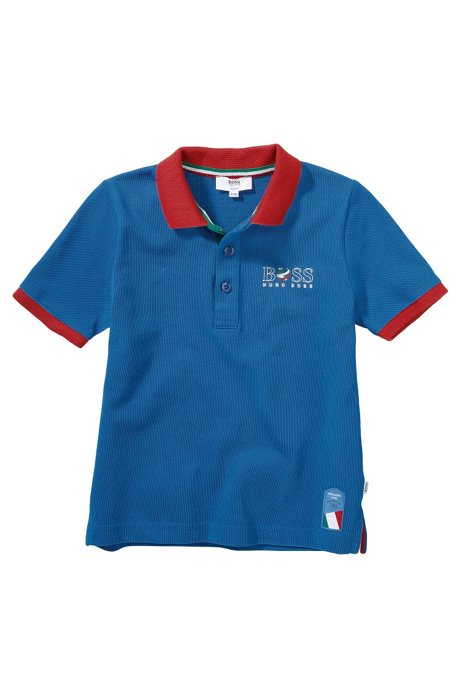 Kids' piqué polo shirt 'J25671', Patterned