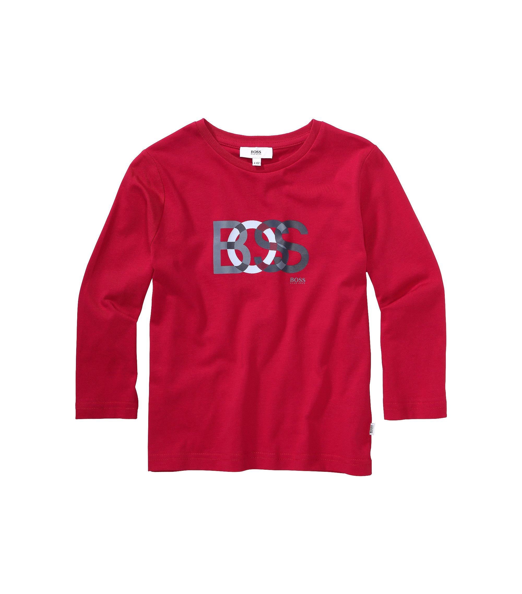 T-shirt à manches longues pour enfant «J25708» en coton, Rouge
