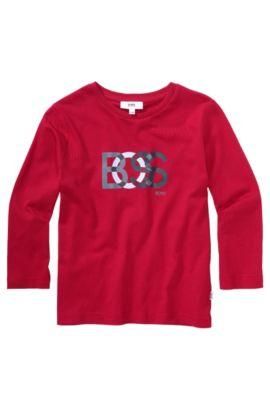 Kids-Longsleeve ´J25708` aus Baumwolle, Rot