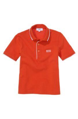 Piqué kinderpolo 'J25709' van katoen, Oranje
