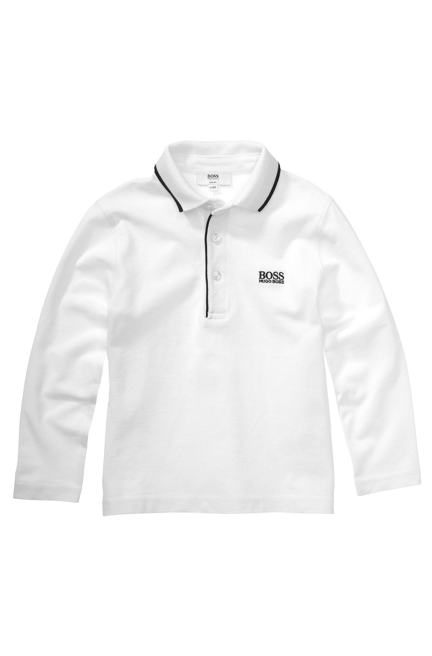 Kids-Longsleeve-Polo ´J25710` aus Baumwolle