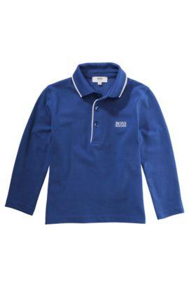 Kids-Longsleeve-Polo ´J25710` aus Baumwolle, Blau