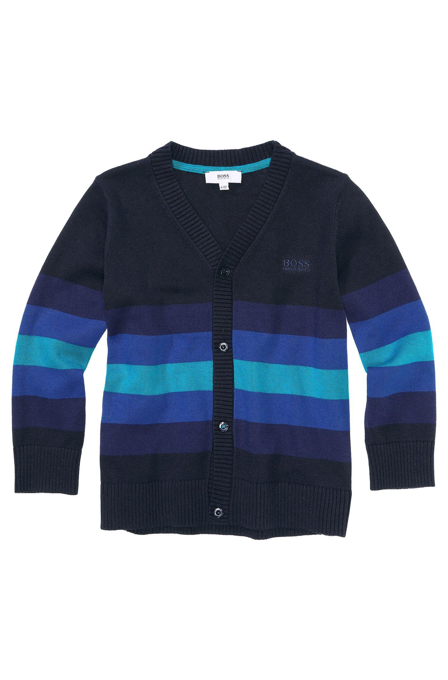 Veste en maille pour enfant «J25716» en coton mélangé