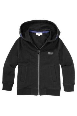 Kids-Sweatshirt-Jacke ´J25717` aus Baumwoll-Mix, Schwarz