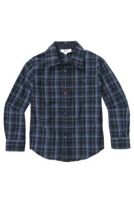 Chemise pour enfant «J25729» en coton, Bleu foncé