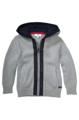 Kids-Strickjacke ´J25733` aus Baumwoll-Mix, Hellgrau