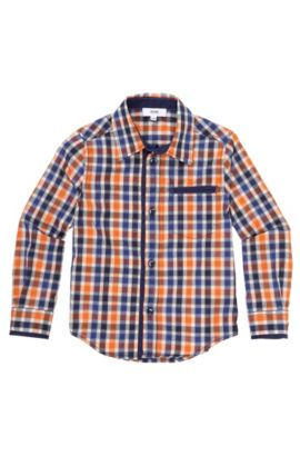 Kids-overhemd 'J25743' van katoen, Bedrukt