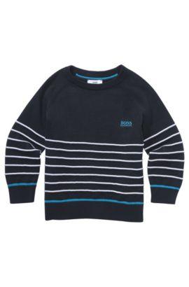 Pull pour enfant «J25772» en coton, Bleu foncé