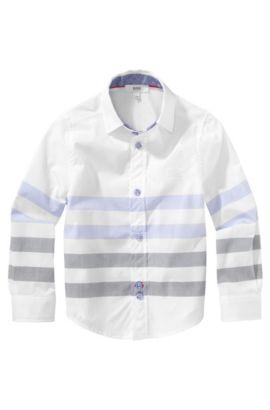 Kinderoverhemd 'J25779' met cutaway-kraag, Wit