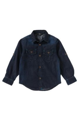 Jeanshemd aus Baumwolle: 'J25780', Gemustert