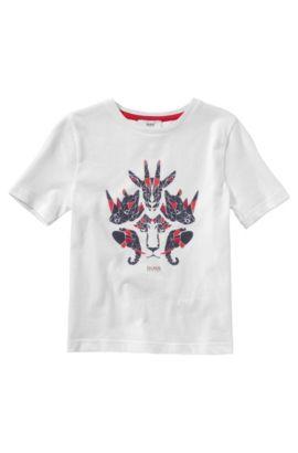 Kinder-T-shirt 'J25784' van katoen, Wit