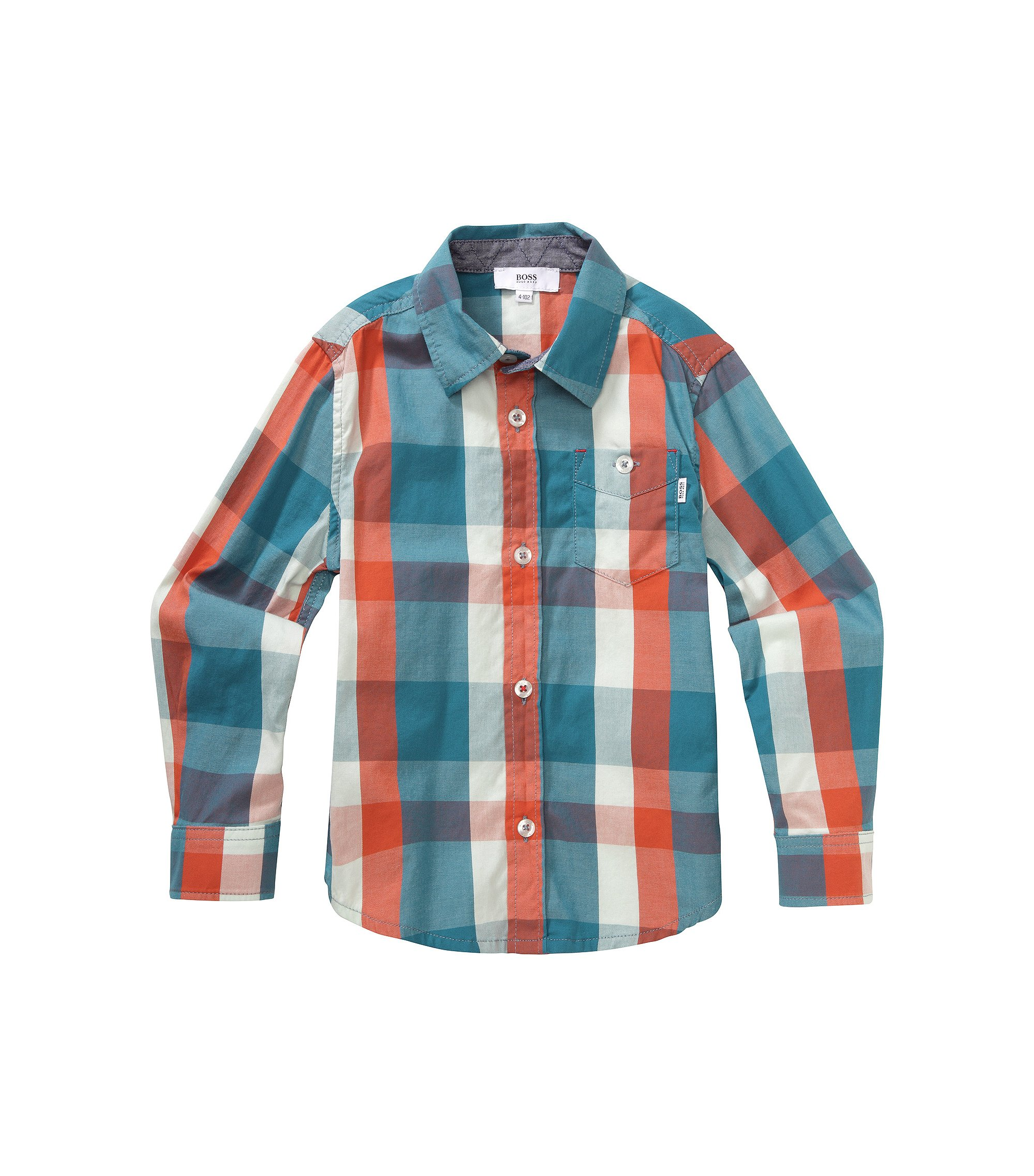 Kids-Hemd ´J25788` aus Baumwolle, Gemustert