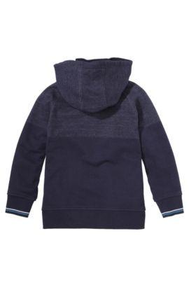 Blouson sweat à capuche pour enfant «J25789» en coton, Bleu foncé