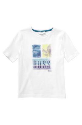 T-shirt pour enfant «J25796» en coton, Blanc