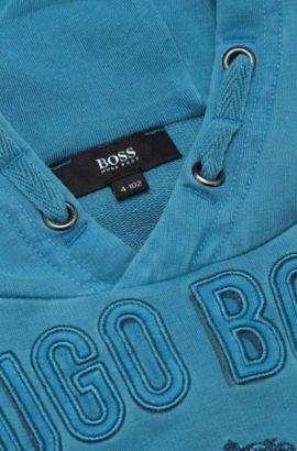 Sweatshirt met capuchon voor kinderen 'J25800' van een katoenmix, Donkerblauw