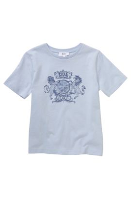Kinder-T-shirt 'J25805' van katoen, Lichtblauw