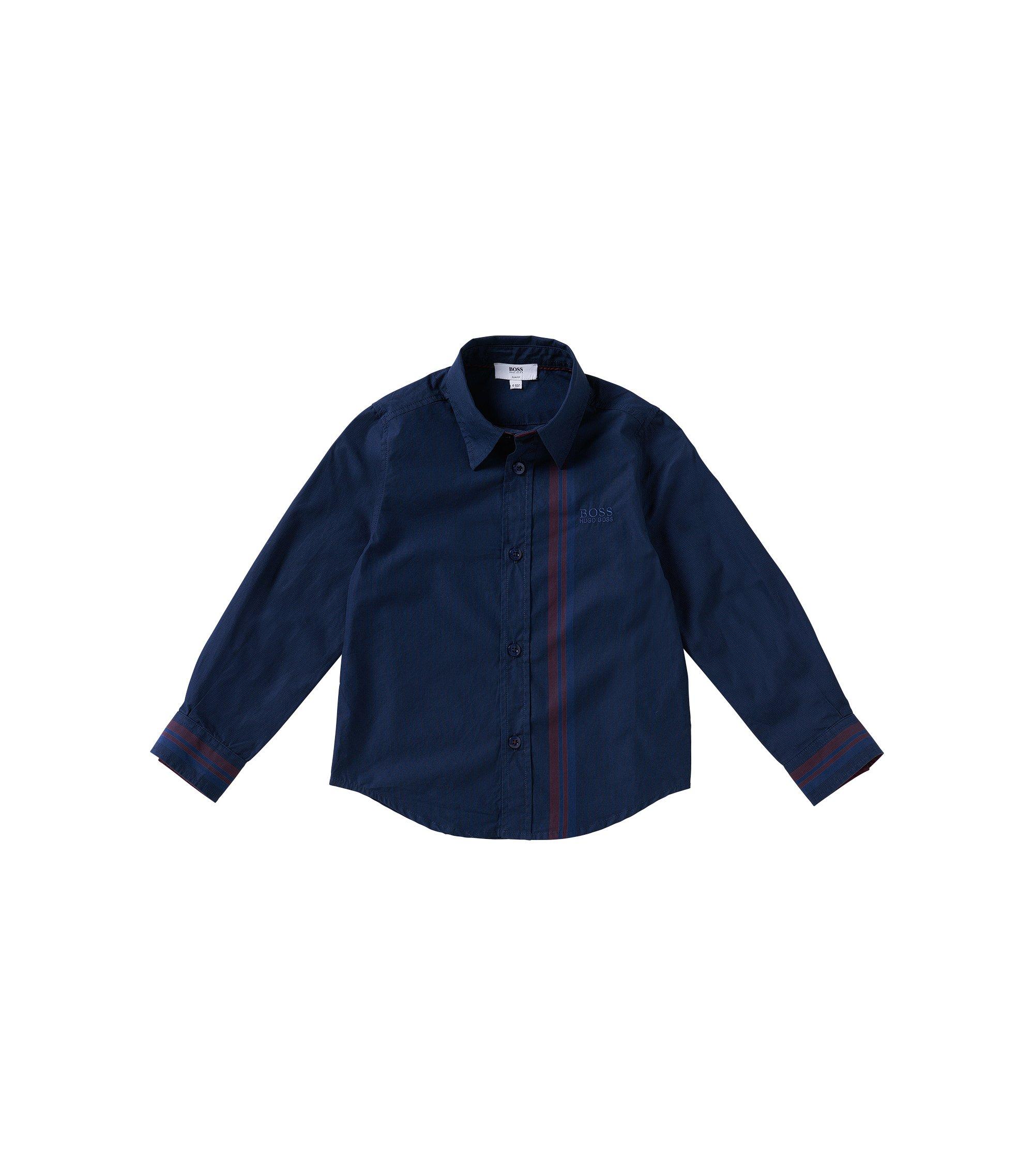 Kids-Hemd aus Baumwolle: 'J25868', Dunkelblau